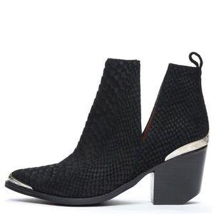 Jeffrey Campbell Cromwell Matte Snakeskin Boot